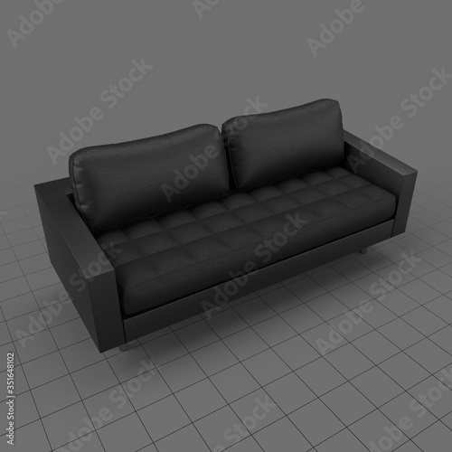 Obraz Modern leather sofa - fototapety do salonu