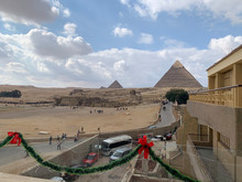 A View To Giza Pyramids And Sp...
