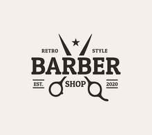 Vintage Style Barber Shop Logo...