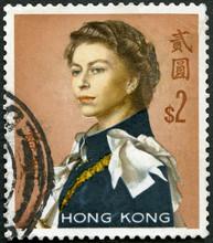 HONG KONG - 1962: Shows Queen Elizabeth II, 1962
