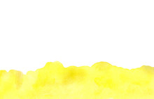 Abstract Watercolor Background, Yellow Border