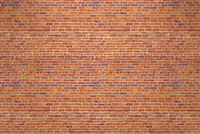 Old Brick Red Wall Background. 3D Rendering