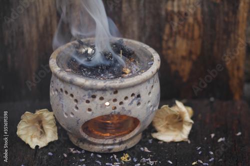 Fényképezés duftrauchbrenner verbrennt räucherwerk