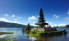 Pura Ulun Danau Bratan Temple Against Blue Sky