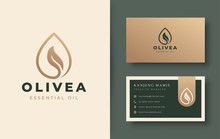 Water Drop / Olive Oil Logo An...