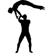 Circus Performers Acrobats Sil...