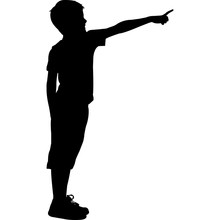 Pointing Silhouette Vector