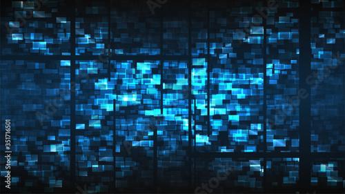 Fotografie, Obraz Cyberpunk glitch background
