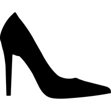 Womens Shoes Silhouette Vector