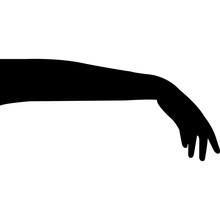 Full Arm Hand Gestures Silhoue...