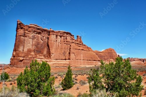 Fotografia Scenic View Of Rock Formations At Arches National Park