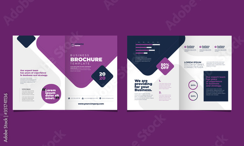Fotografie, Obraz Bifold business corporate brochure design