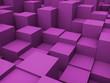 Leinwanddruck Bild - 3D abstract cubes background