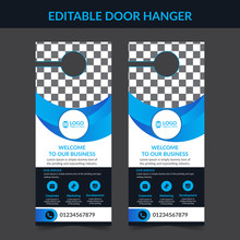 Set Of Door Hangers Background. Door Hanger Mockup. Vector Illustration, Corporate Door Hanger Design, Door Hanger Tags, Do Not Disturb And Make Up Room Sign Premium Vector,Door Hanger Design Template