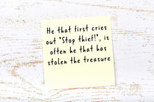 Wise Quote On Sticky Note On W...