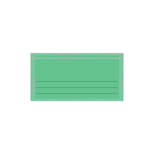 Green Surgical Face Mask Vector