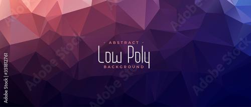 Fototapeta abstract low poly shiny banner background design obraz