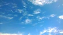 Beautiful Wispy Clouds In Sky