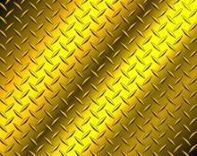 Metallic Gold Diamond Steel Metal Sheet Texture Background