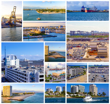 The Collage About Port Everglades At US