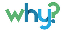 WHY? Blue And Green Vector Geometric Type Banner