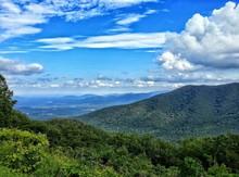 Idyllic Shot Of Blue Ridge Mountains Against Sky