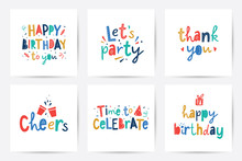 Happy Birthday Vector Set Of C...
