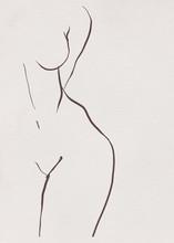 Woman Lines Minimalism