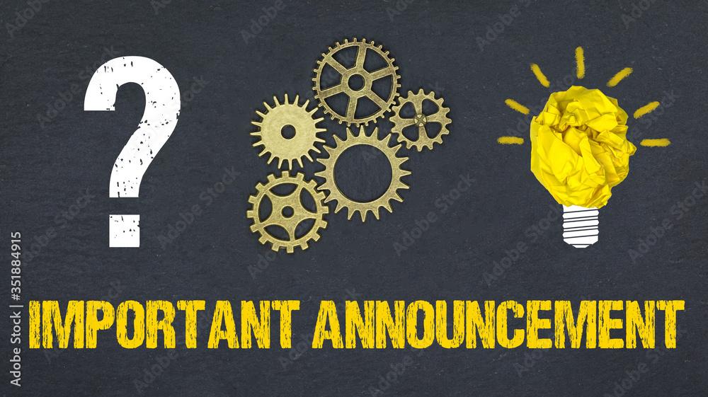 Fototapeta Important Announcement