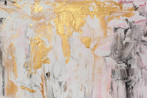 chic, luxurious Colorful background with divorces and gold Canvas Print