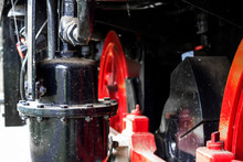 Black Container On An Old Shunting Engine