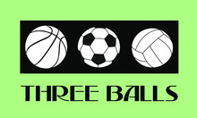 The Logo Of Three Balls For Sp...