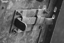 Close-up Of Latch On Gate