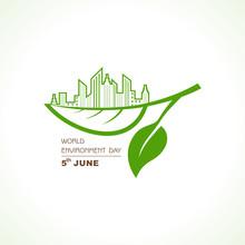 World Environment Day Concept Logo Design - 5th June World Environment Day Awareness Idea Campaign.