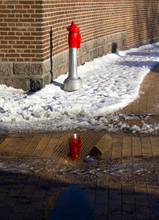 Fire Hydrant With Snow Against...