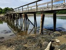 Old Wooden Bridge In Maine