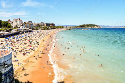 view of the city, in Santander, Cantabria, spain europe