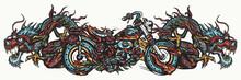 Biker Art. Burning Chopper Mot...