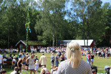 Traditional Swediish Midsummer Celebration Called Midsommar