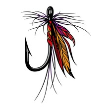 Colorful Fly Fishing Lure Concept