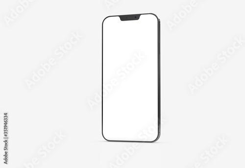 Obraz white mobile smartphone device digital isolated 3d - fototapety do salonu