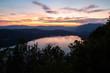 Coucher de soleil depuis la Chambotte, Lac du Bourget