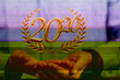 Leinwanddruck Bild - business year 2020 up goals and  success illustration