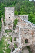 Impressions Of Ruin Dobra At Dobra Dam, Near Ottenstein Lake, Austria