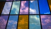 Full Frame Shot Of Broken Stained Glass Window St Elizabeths Church