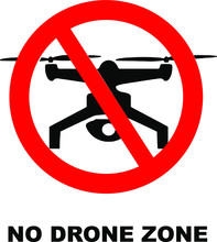 No Drone Zone Area Vector Sign