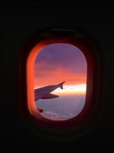 Sky Seen Through Airplane Wind...
