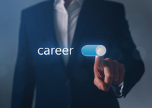 Businessman Switch On Career B...