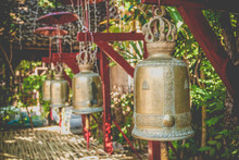 Traditional Bells At Buddhist Temple