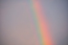 Low Angle View Of Rainbow Against Sky